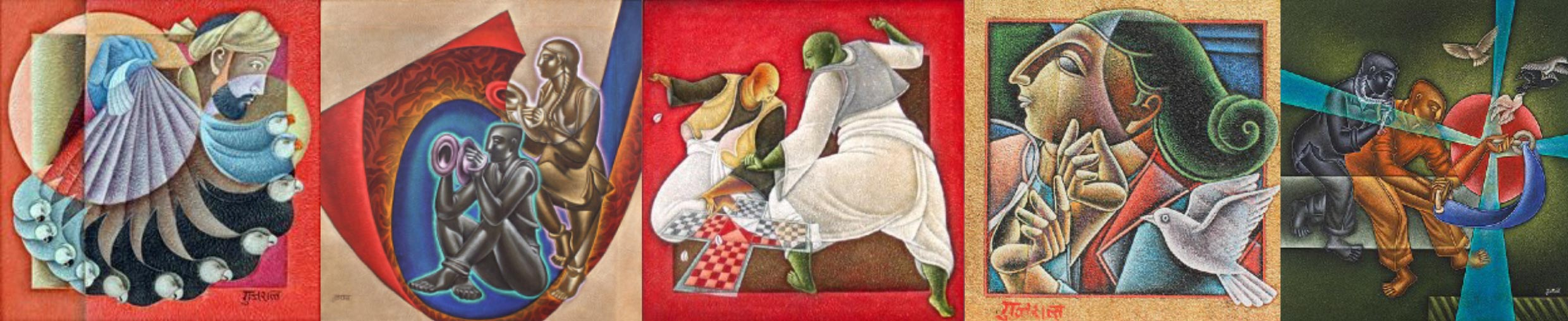 Satish Gujral - Artworks